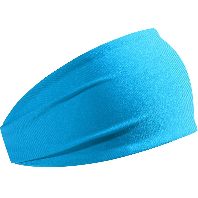 HCHYFZ Headbands Men Women Sweatband Sports Headband Moisture Wicking Workout Running Crossfit Yoga Bike (1PCS-Sky Blue)