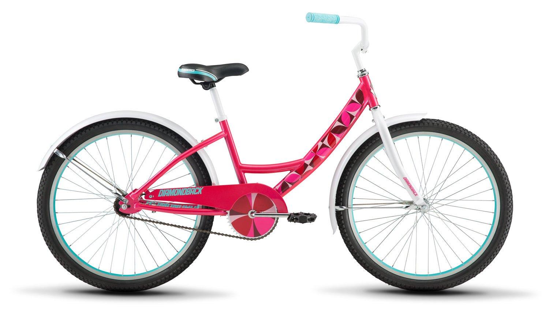 Diamondback Bicycles Girls Impression 24 Sidewalk Bike, Pink