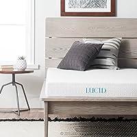 LUCID 5 Inch Gel Memory Foam Mattress - Dual-Layered - CertiPUR-US Certified - Firm Feel
