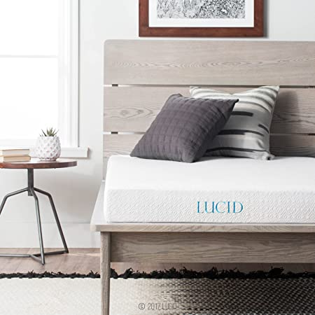 LUCID 5 Inch Gel Memory Foam Mattress