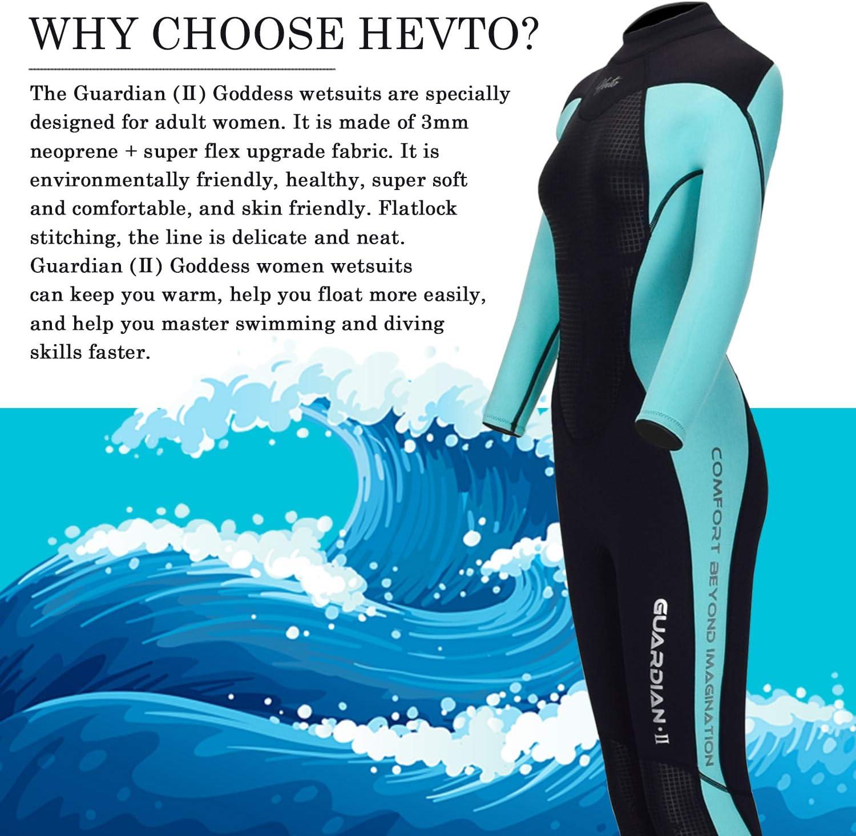 Amazon.com: Hevto Wetsuits Men and Women Guardian II 3mm ...