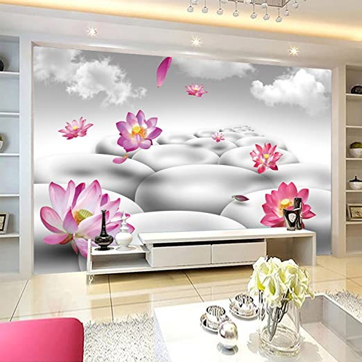 3D Lotus Pebbles Sky 431 Wall Paper Wall Print Decal Wall Deco Indoor wall Murals Removable