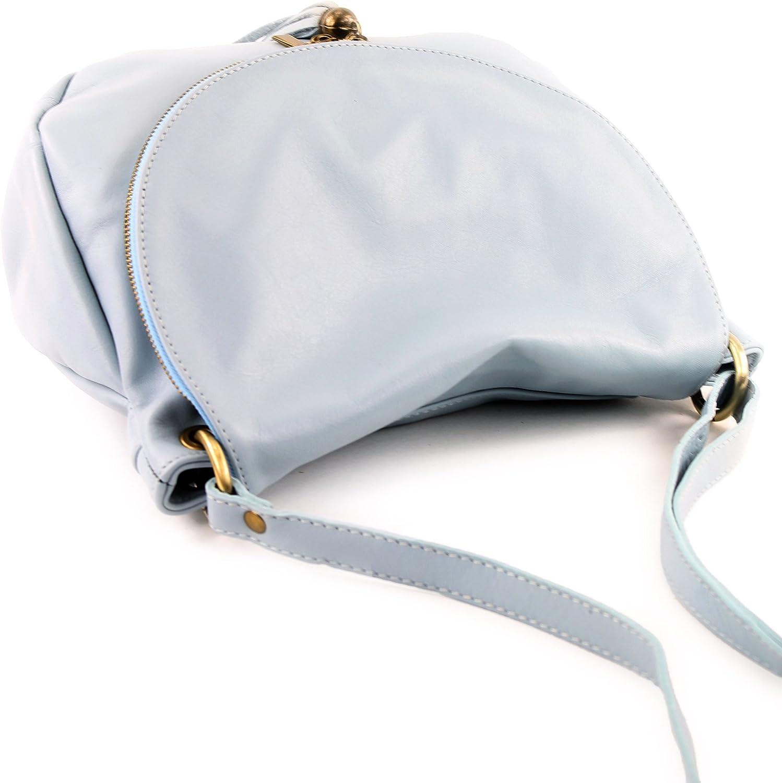 modamoda de -. Ital signore borsa in pelle borsa borsa borsetta in pelle borsa in pelle Borsa media grande T40 Blu Ghiaccio