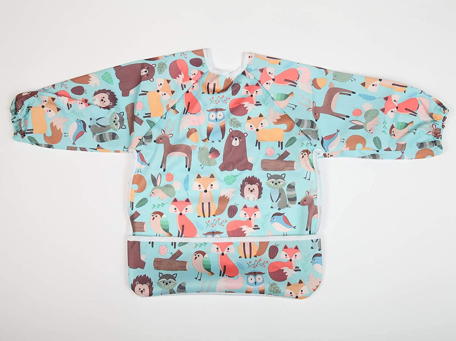 Baby Bib Sleeved Shirt With Pocket 1-3 years old Toddler Painting Drawing
