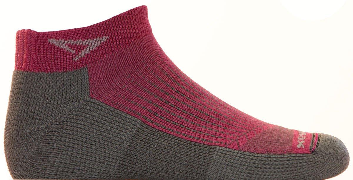 Drymax Running Mini Crew, October Pink/Anthracite, W10-12 / M8.5-10.5 by Drymax