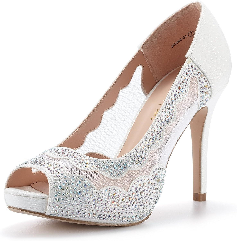 DREAM PAIRS Womens Divine-01 High Heels Dress Pump Shoes