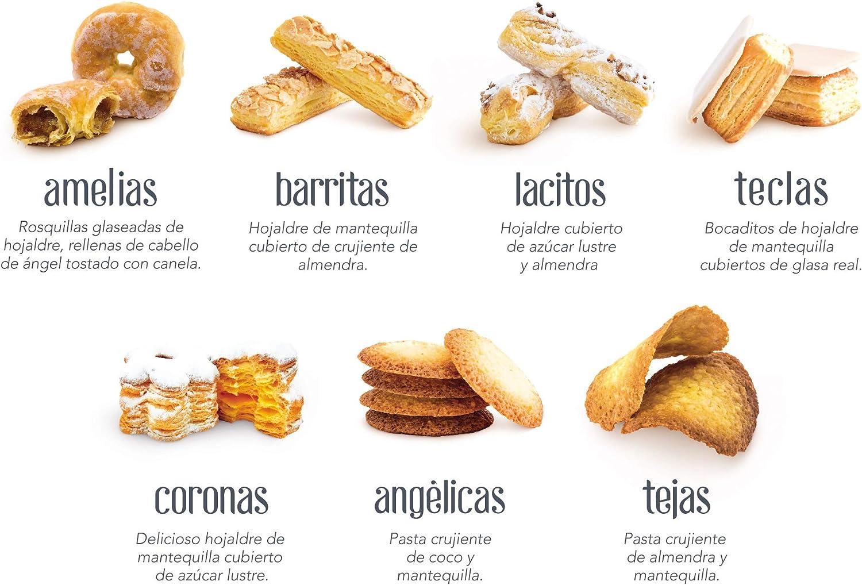 Surtido de Dulces Galletas Crujientes de almendra y mantequilla - Tejas de Almendra - Nazaré Hojaldrería - 225 Unidades 1600 gr.: Amazon.es: Alimentación y bebidas