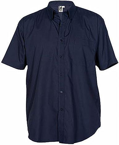 Camisa de Manga Corta y Cuello clásico almidonado de 1 botón ...