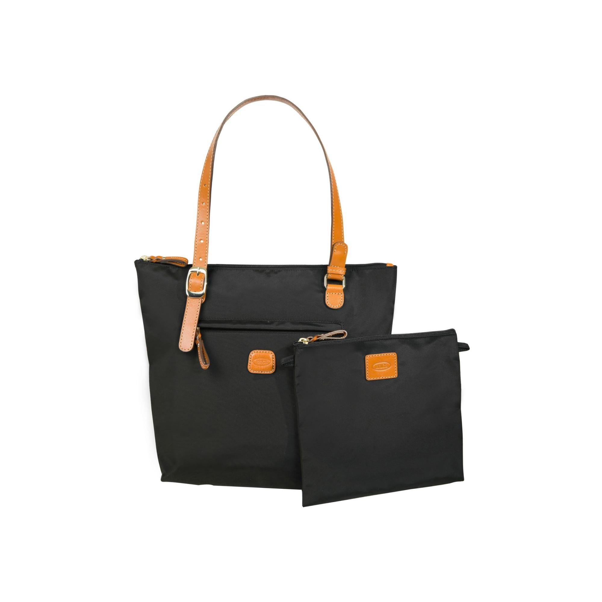 Bric's Women's X x 2.0 Large Sportina Shopper Tote Travel Shoulder Bag, Black, One Size