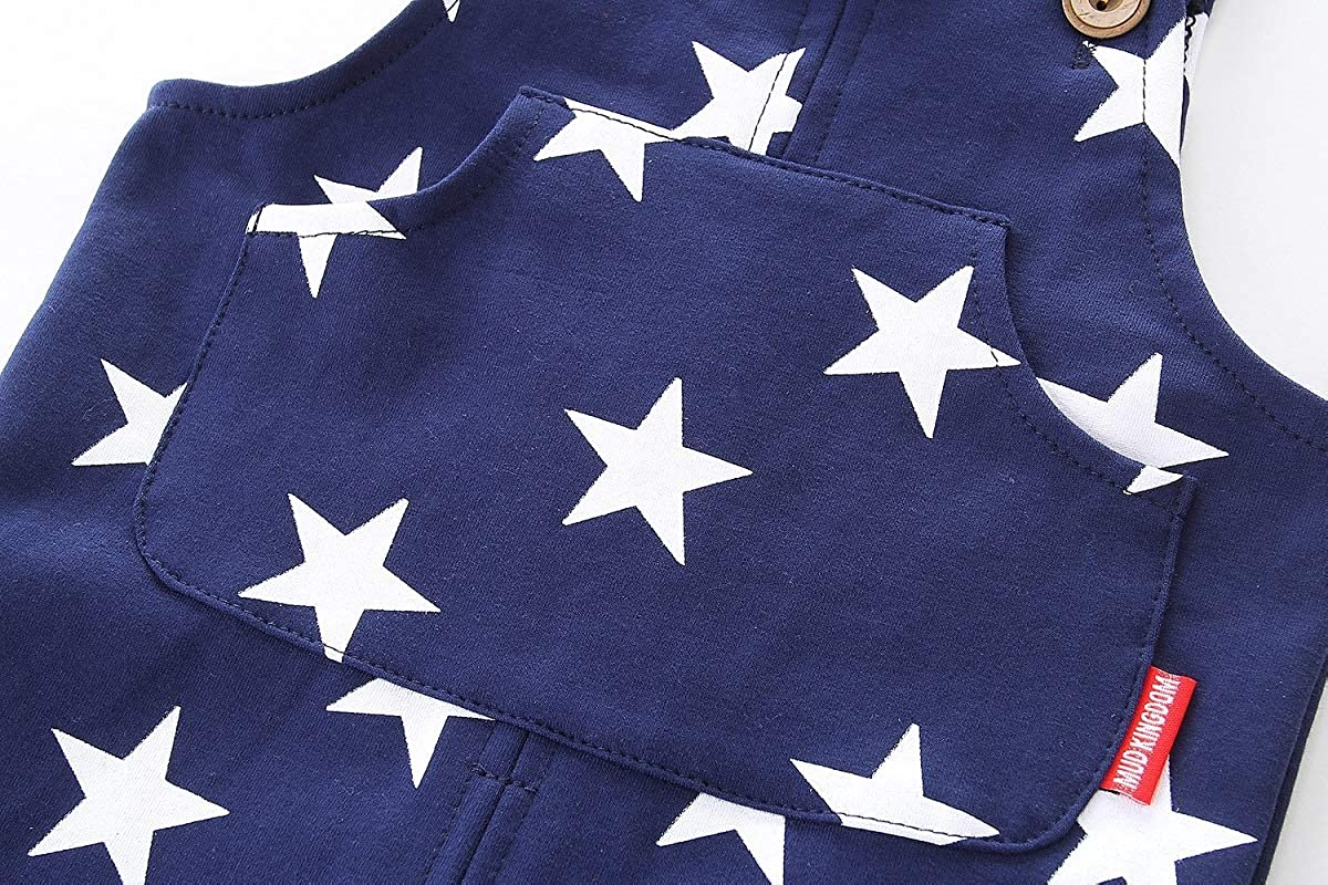 Mud Kingdom Little Boys Overalls Cute Stars Casual Wear