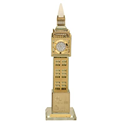 3ad782e561 Buy Crystal London Big Ben Tower with Working Clock Golden Color Online at  Low Prices in India - Amazon.in