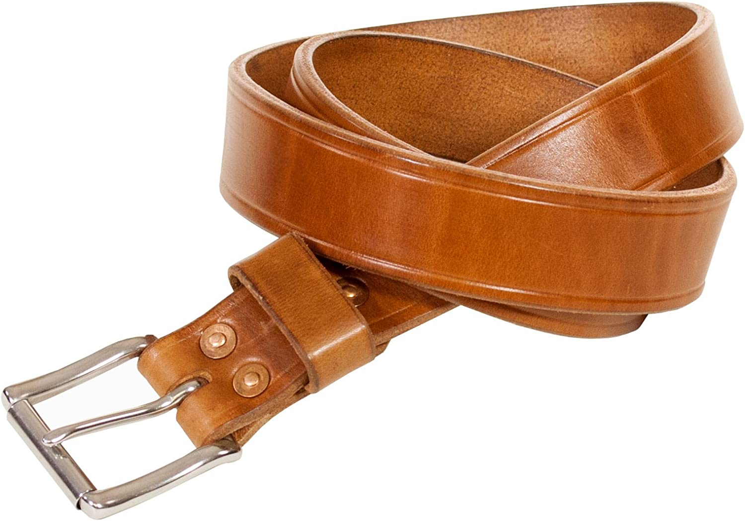 Natures Best Becca 1.5 Inch Work Belt W//Stainless Buckle Russet