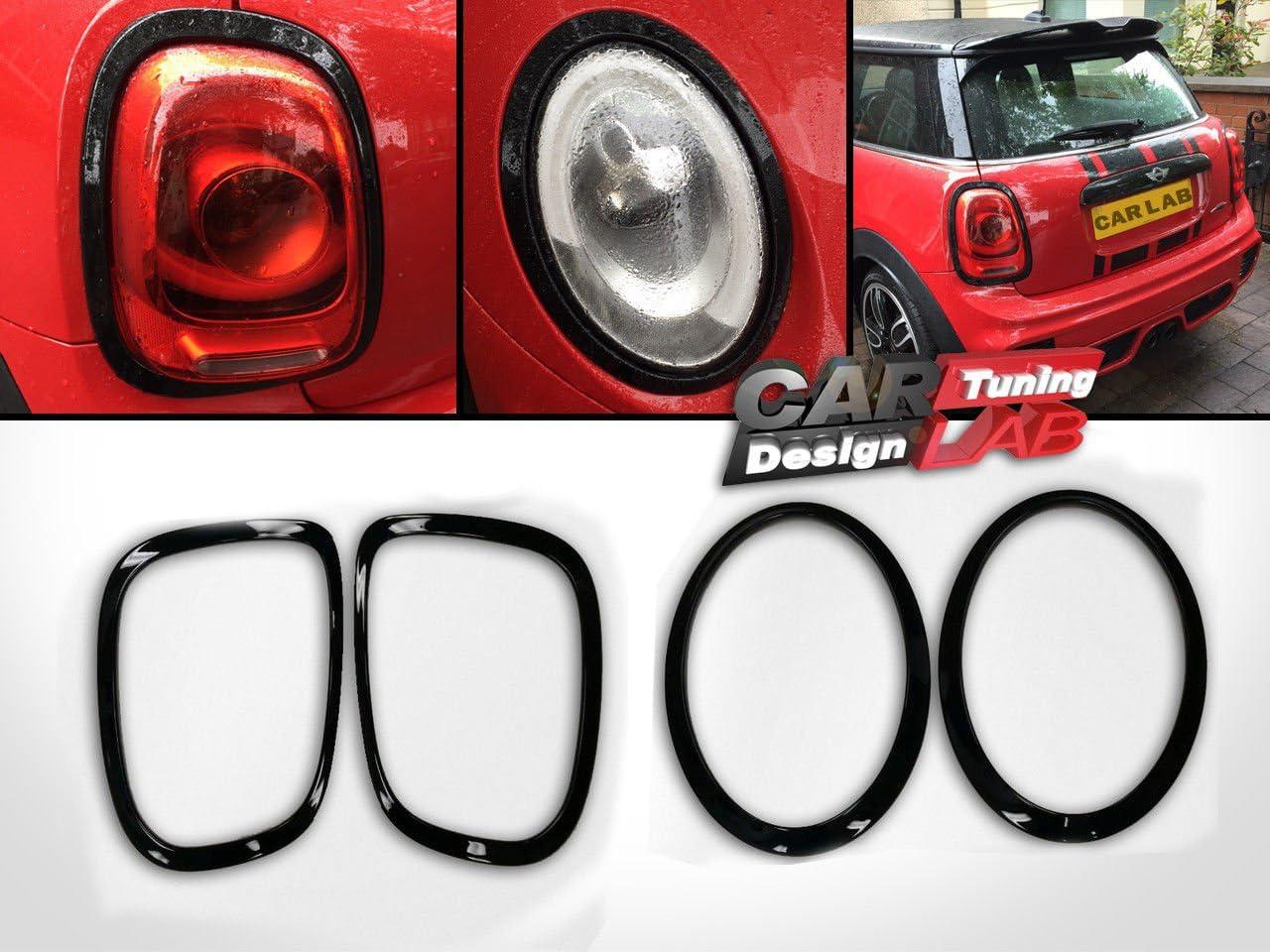 2 Pcs Door Handle Trim for MINI JCW Cooper S F56 F57 Hatchback Car Auto Black