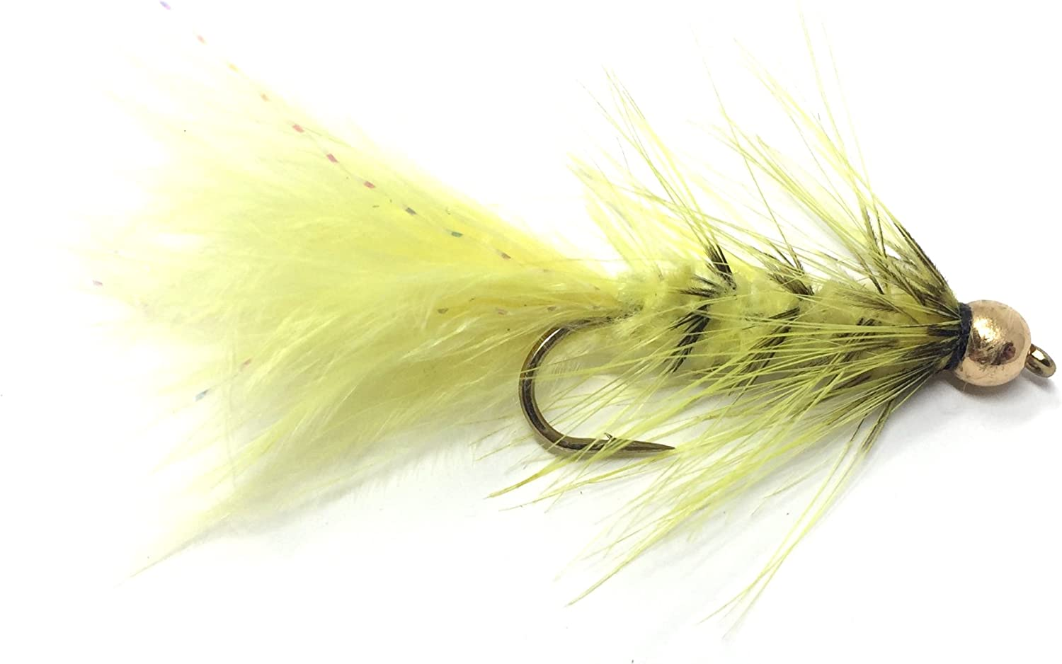 12 One Dozen Bead Head Olive Wooly Buggers Size 8