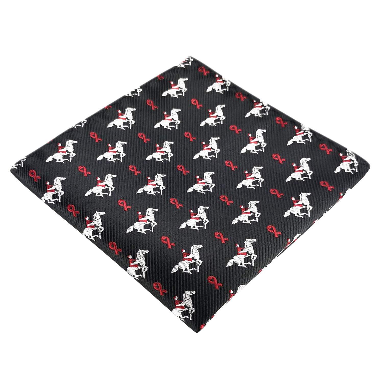 KOOELLE Mens Horses Bow Ties Self Tie Equestrian Ridding Jacquard Bowtie /& Pocket Square Set