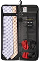 """Travel Essentials Travel Tie Case, Black (16"""" X 6"""") Cuff Link / Tie Clips Storage"""