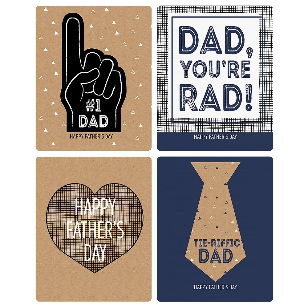 Big Dot of Happiness My Dad is Rad Water and Candy Labels Trio Sticker Set Wine Fathers Day Party Decorations /& Favors Kit