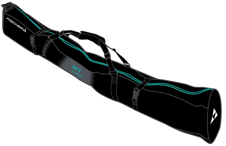 FISCHER SKICASE ALPINE MY 2018 Skitasche Skisack mit RV für ein Paar Ski Z03417(BLACK/MINT)