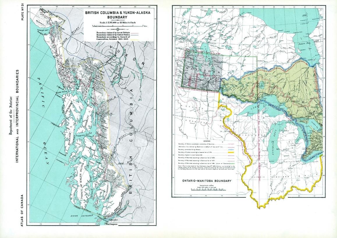 Amazon.com : Boundaries of BC-Yukon-Alaska, Ontario-Manitoba (1906 on quebec map, northwest territories map, klondike map, nunavut map, mountain creek lake map, british columbia map, inola map, p.e.i map, north america map, canada map, toronto map, whitestone map, newfoundland map, mackenzie mountains map, alberta map, dawson city map, alaska map, skagway map, yangtze map, arizona map,
