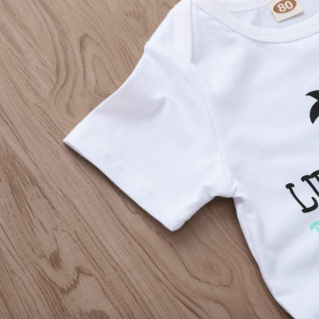 Robemon❤️Nouveau-n/é Enfant B/éb/é Filles Gar/çons Letter Print T Shirt Shorts Outfits Clothing Ensembles de B/éb/é