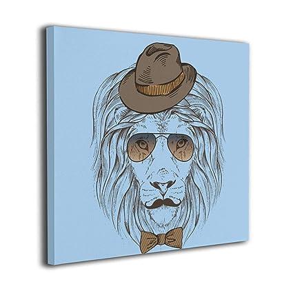 Amazon.com: Cuadro de arte para pared, diseño de cabeza de ...