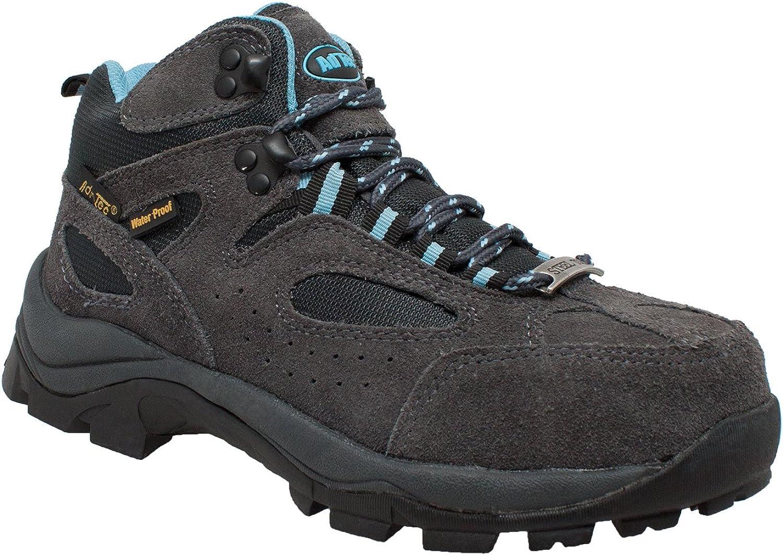 AdTec Womens Grey/Blue Suede Work Hiker