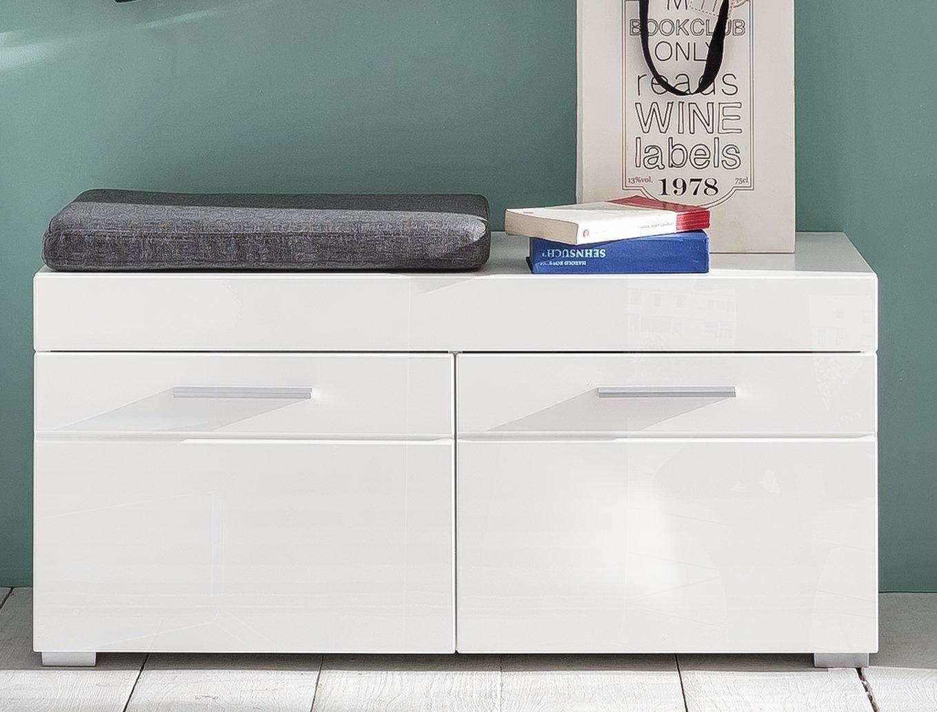 Trendteam Garderobe Schuhschrank, weiß, 91 x 42 x 38 cm: Amazon.de ...