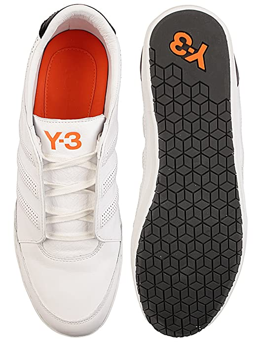 54c5f48a7 Mens Y-3 Mens Y-3 Honja Low Classic II Trainers in White Black - UK 11.5   Amazon.co.uk  Shoes   Bags