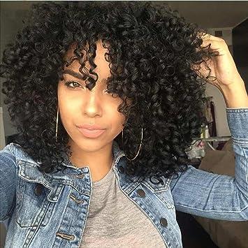 AISI HAIR Perruques courtes frisées afro,