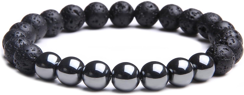 MAOCEN Handmade 8mm Bead Bracelets for Men Jewelry