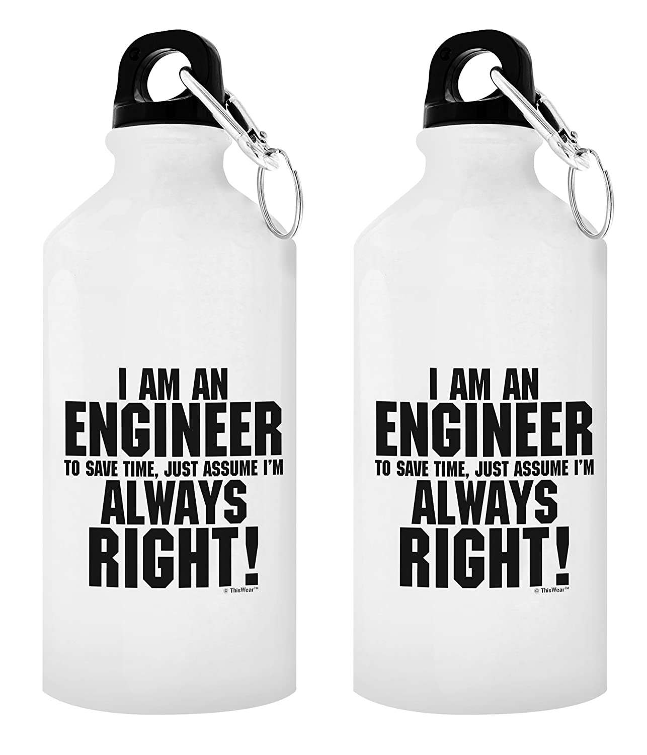Amazon Engineer Gifts For Men Water Bottle Im An To Save Time Assume Always Right Best Engineers Gift 20 Oz