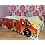 TODDLER CHILDREN KIDS BED INCLUDING MATTRESS FIRE TRUCK (140x70)