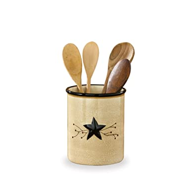 Park Designs Star Vine Utensil Crock, Multicolor