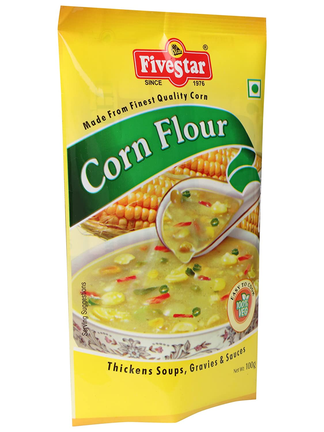 Five Star Corn Flour 100 g Pouch (Pack of 5): Amazon.in: Grocery & Gourmet  Foods