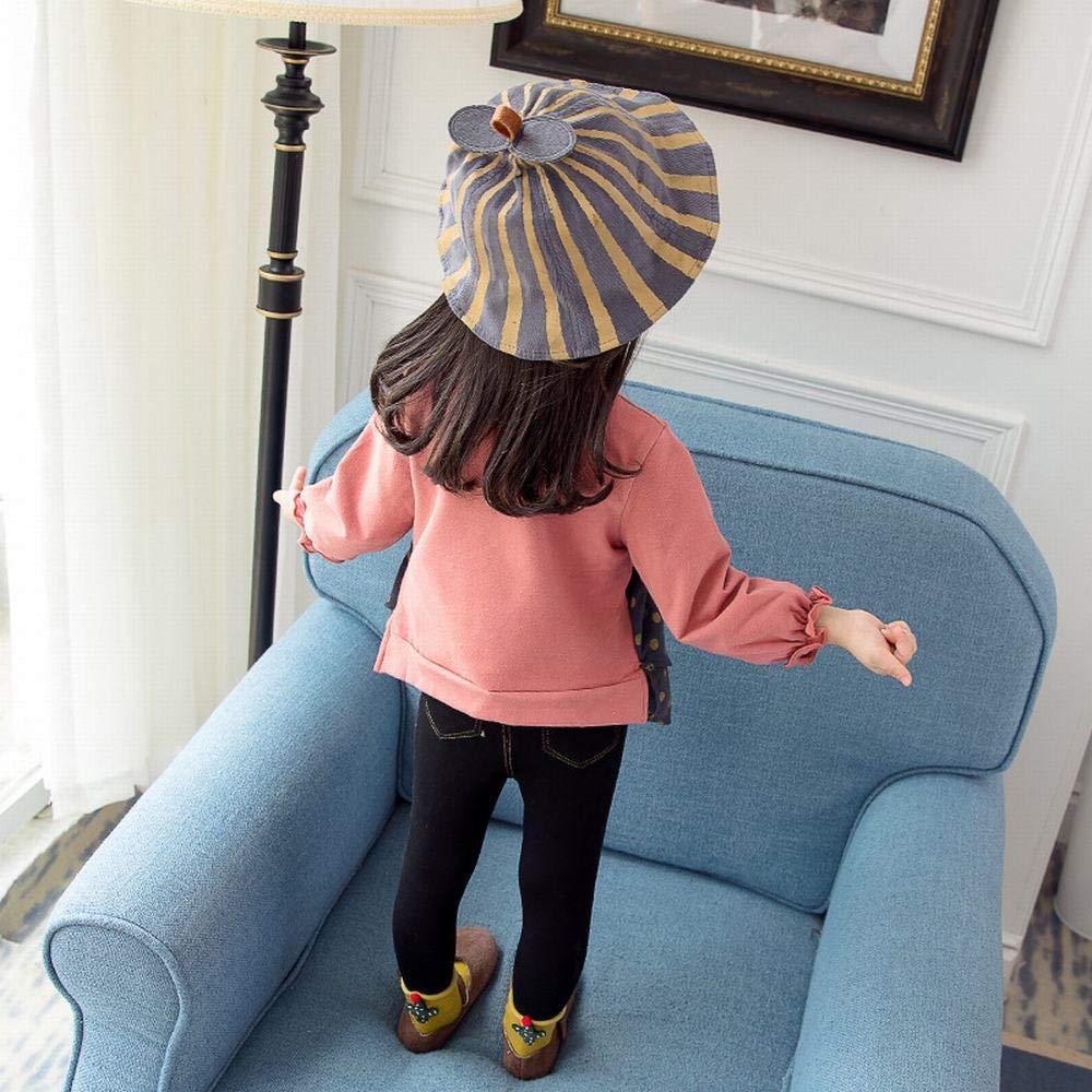 Ancia Baby Girls Toddler Long Sleeve T-Shirt Dress Kids Fall Tops