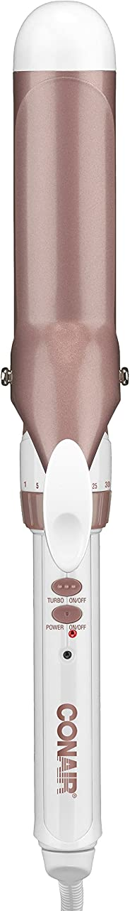 Conair - Plancha para rizar (cerámica), Blanco/Oro rosa, 3,81cm