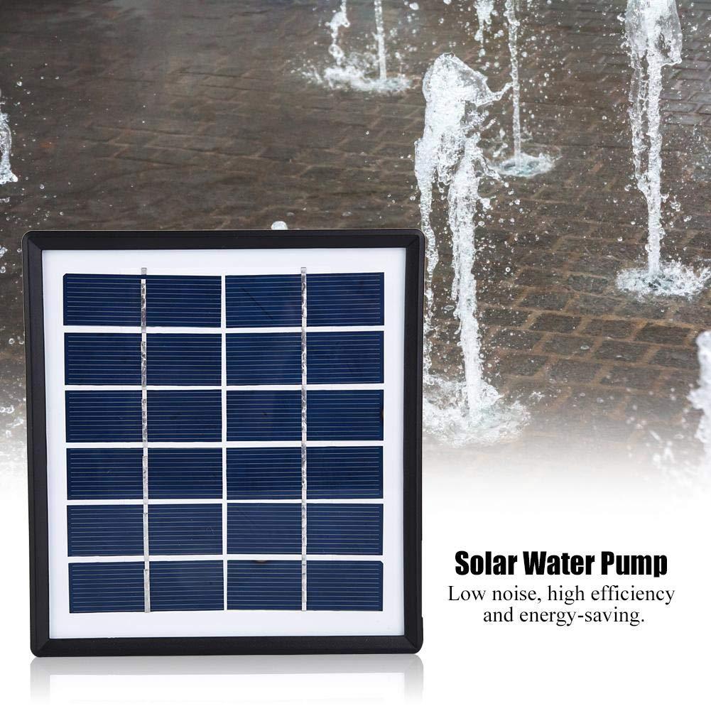 1,5 W Miniatur-Aquarienbrunnen-Teich-Solar-Tauchwasserpumpe ohne B/ürste Jadpes Tauchwasserpumpe