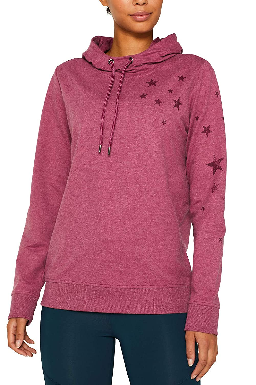 ESPRIT Sports Hoodie mit Sternen-Print