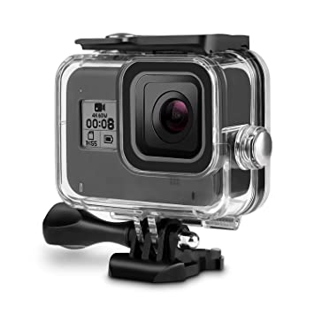 Waterproof Case for Gopro Hero 8 Black, Rhodesy 60M Underwater Housing with Bracket Accessories for Gopro Hero 8 Action Camera