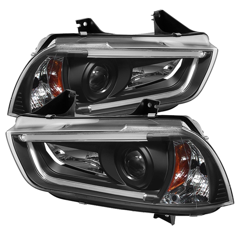 Amazon com spyder auto pro yd dch11 ltdrl hid bk dodge charger projector headlight automotive