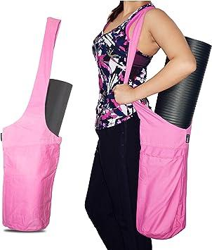 fitters niche Yoga Mat Bag Tote Sling Carrier Shoulder Carrying Bag with Large Side Pocket & Zipper Pocket Carrier, Fits Most Size Mats, Cleaner, ...