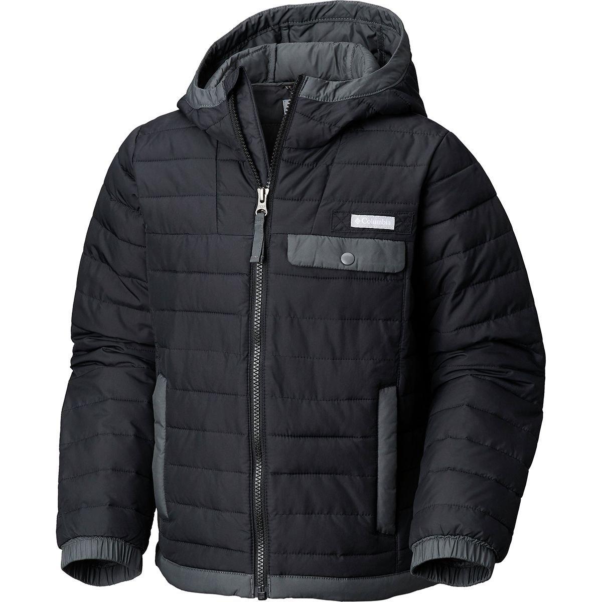 Columbia Kids Boy's Mountainside¿ Full Zip Jacket (Little Kids/Big Kids) Black/Grill Medium
