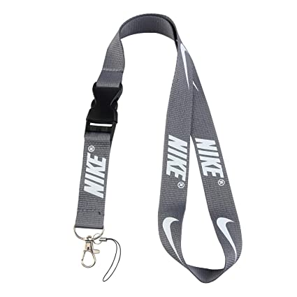 345f26e03d40e Lanyard Keychain Holder Keychain Key Chain Black Lanyard Clip with Webbing  Strap (Gray)