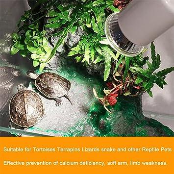 UVB 3.0 Lámpara de Reptil, Bulbo de Tortuga, Lámparas de Luz UV, Lámpara de Calefacción Anfibios Lagartos, Controlador de Temperatura: Amazon.es: Hogar