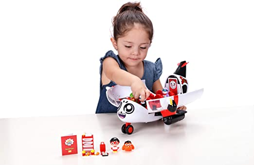 Ryan S World Combo Panda Avion Set avec 6 chiffres Rolling Wheels Playset