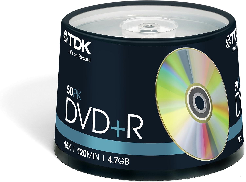 TDK DVD+R 4.7GB 16x 50pk - DVD+R vírgenes: Amazon.es: Informática