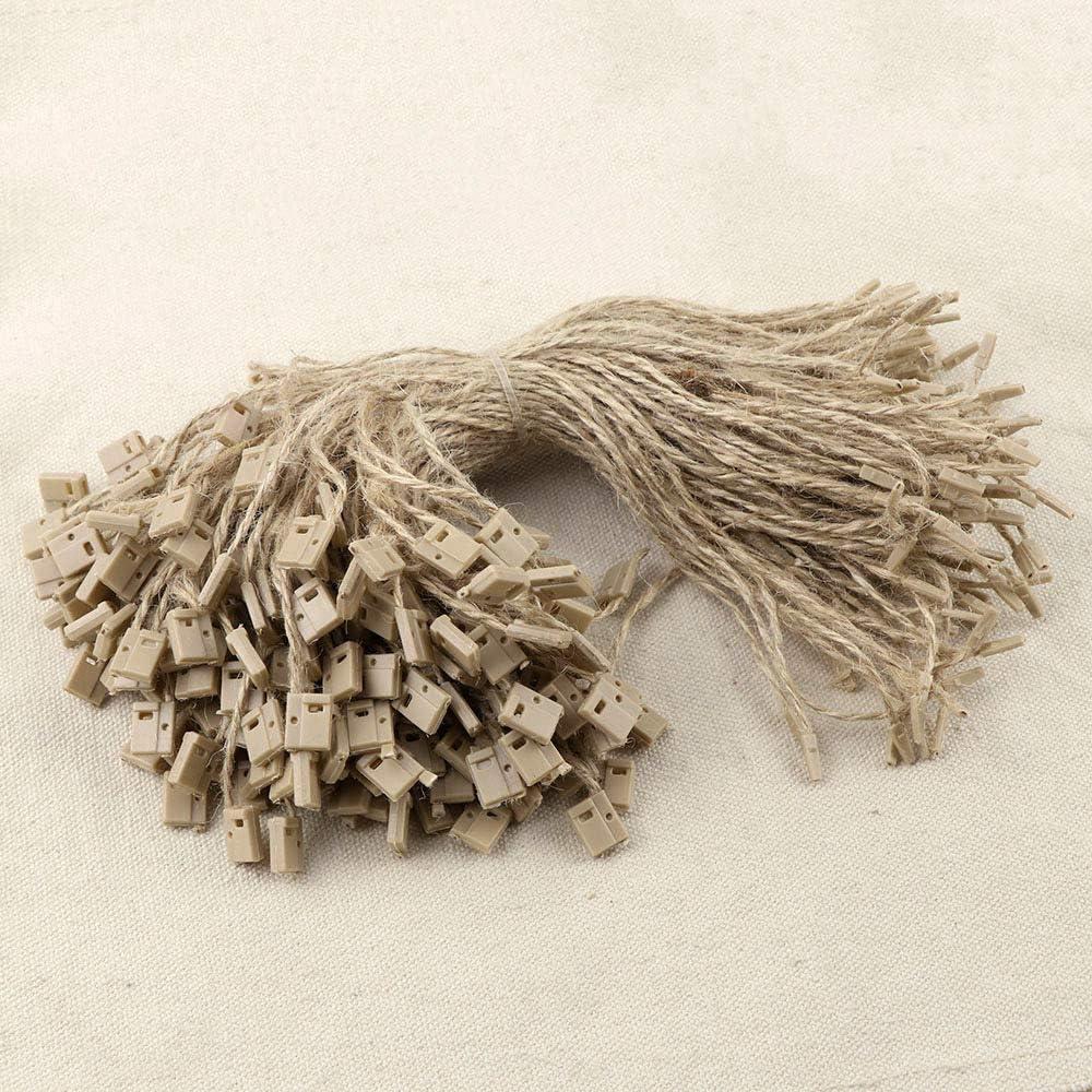 Cuerda de yute para etiquetas, traba manual x 1000 u, 19 cm