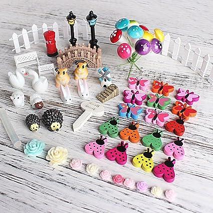 Lnimikiy 58 Pieces De Decoration Miniature Pour Jardin De