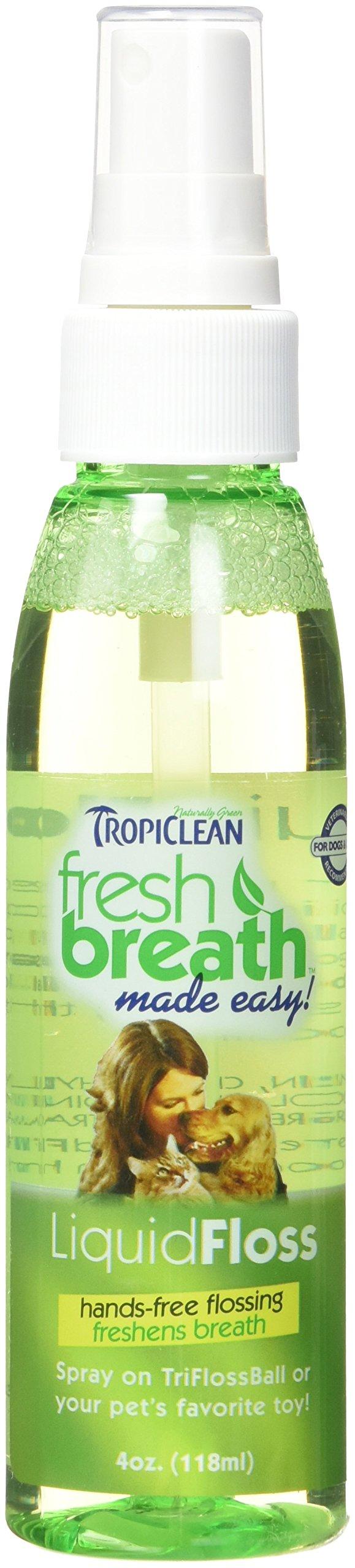 Tropiclean Fresh Breath Plaque Remover Pet Liquid Floss Spray 4oz