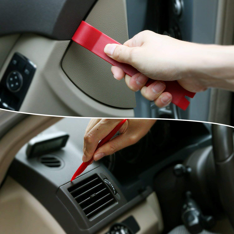 Rot Libershine Auto Zierleistenkeile Set Demontage Werkzeuge Universal Auto T/ürverkleidung und Platten 8 St/ück verschiedene Formen